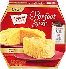 Amazoncom Duncan Hines Perfect Size Cake Mix Lemon Bliss 94