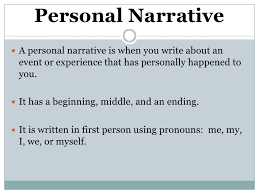 personal narrative notes personal narrative<br >a personal narrative is when you write about an event