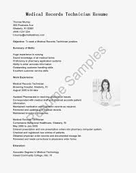 Enchanting Medical Technologist Resume Examples Also No Experience