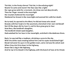 the highwayman and annabel lee forms and structures 17 stanza section of a poem like a paragraph