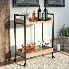 bar cart bar cart rustic bar cart with wine rack bar cart