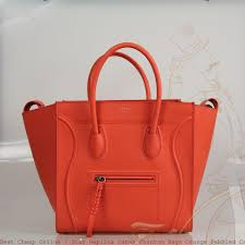 best céline 7 star replica cabas phantom bags orange pebbled calfskin leather tote fake designer bags china