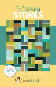 Christa Quilts Patterns and Books – Christa Quilts & Stepping Stones Quilt Pattern in 4 Sizes Adamdwight.com