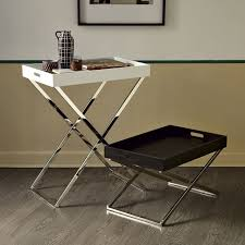 Decorative Tv Tray Tables Tall Butler Tray Stand West Elm 11