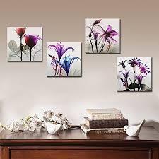 4 panel wall art large modern framed flowers painting canvas print artwork decor on framed wall art decor with 4 panel wall art large modern framed flowers painting canvas print