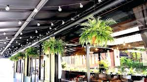 silk hanging baskets for outside faux fern hanging baskets for the outdoor seating area of restaurant silk hanging baskets for outside