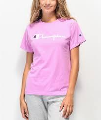 Light Purple Champion Shirt Champion Og Direct Flock Orchid T Shirt