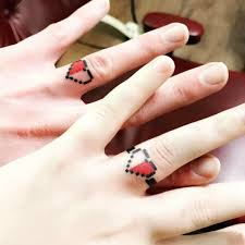 Zelda Wedding Ring Finger Tattoos пара пара