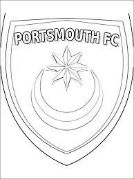Kleurplaat Met Portsmouth Fc Logo Gratis Kleurplaten