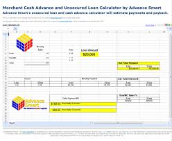 pay back loans calculator merchant cash advance and loan calculator free download and