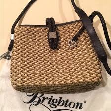 straw and leather handbags clear out discontinued brighton laundry room ideas farmhouse