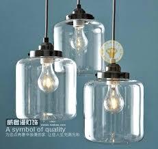 1 piece vintage retro clear glass bottle pendant light mason jar hanging lamp shade kitchen dining