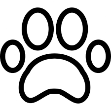 bulldog paw print outline. Interesting Outline Paw Print Outline Free Icon For Bulldog Print Outline T