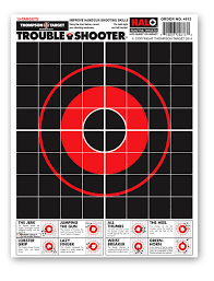 Halo Trouble Shooter Handgun Diagnostic Reactive Splatter Gun Range Shooting Targets 8 5x11 Inches 20 Pack