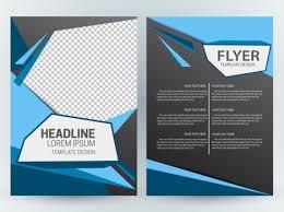 Dark Flyer Flyer Template Design With Modern Abstract Checkered Dark Background