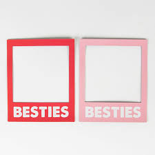 Red Photo Frames Besties Magnetic Polaroid Photo Frame Red Or Pink By Sass Belle