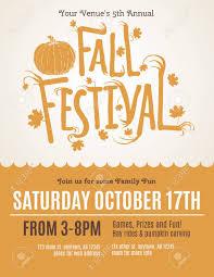 Fall Festival Flier Fun Fall Festival Invitation Flyer