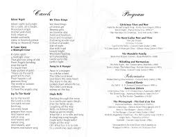 Sample Concert Program Victorian Christmas Concert Program Page 24 John Doan Master of 1