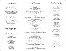 Invitations Wedding Program Templates Sample Tri Fold Wedding Program Templates