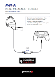 ps headset setups from gioteck ps4 headset setup diagrams