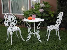 chair and table design bistro patio chairs set compact metal dining oval metal patio table