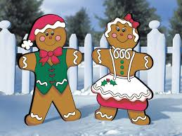 gingerbread man and woman. Fine And Lighthearted Gingerbread Man And Woman Are Nostalgic Christmas Decorations In Gingerbread Man And Woman A