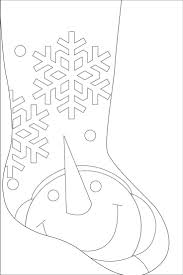 Snowman Stocking Pattern Only