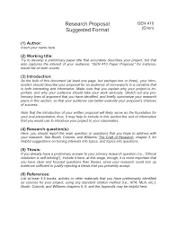 Research Paper Proposal Example Mla