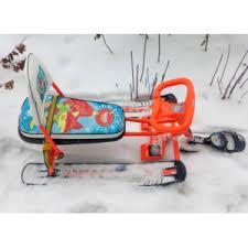 <b>Снегокат Nika</b> (<b>Ника</b>) <b>Тимка спорт</b> 4-1 Лисенок ТС4-1 со спинкой ...