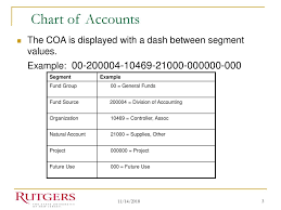 Fund Accounting Chart Of Accounts Example Chart Of Accounts Ppt Download