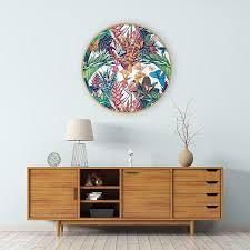 butterflies in paradise circular framed art print on wall art prints nz with butterflies in paradise circular framed art print miss lolo