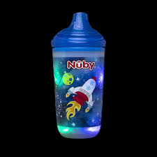 Nuby Insulated Light Up Cup Nuby Insulated Light Up Cup With No Spill Bite Resistant Hard Spout 10 Oz Blue Space