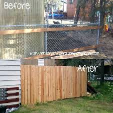 chain link fence slats brown. Chain Link Fence Privacy Screen Slats Screening Ideas Add Cedar Planks To A Brown