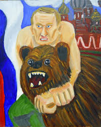 jerry saltz on twitter here s one of the seven new george w bush painted portraits of putin t co tiqugemfhb