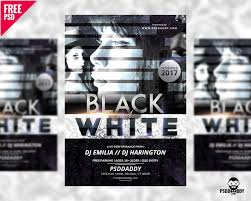 Black And White Flyer Template Download]Black And White Club Flyer Free PSD PsdDaddy 12