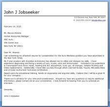 Auto Technician Cover Letter Sample Job And Resume Template Best