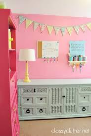 laminate furniture makeover. Bright Pink Craft Room Laminate Furniture Makeover