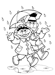Sesame Street Coloring Pages Bert And Ernie Coloringstar