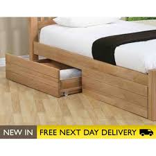 sleepy valley beds oak storage drawers two under