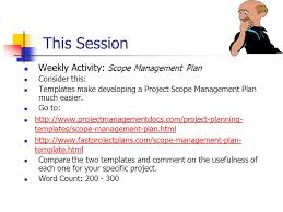 Session Change Management Plan. Session Outline Change Requests ...
