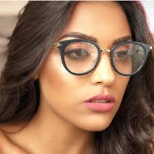 glasses frame female korean version tide retro round face personality can be matched with myopic eyes large face thin flat mirro