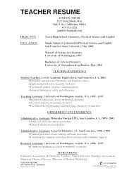 Teacher Assistant Resume Interesting Examples Of Resume For Teachers Resume Teacher Assistant Educational