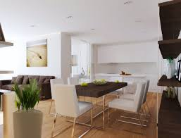 Interior Design For Living Room And Kitchen Gorgeous White Kitchen Open To Family Room With Modern Wooden