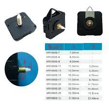 wall clock mechanisms movement quartz machine long
