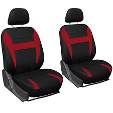 car seat covers for honda accord red black w steering wheel belt pad head rests