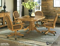 dining table and chairs with casters splendid chairs wheels inside stylish on with arms crossword clue