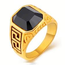 whole custom jewelry men big stone gold ring designs