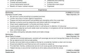 Bartender Resume Template Resume Template For Bartender Examples ...