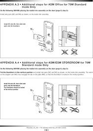 office door lock parts. Page 30 Of CSC79X Door Lock User Manual Kaba Ilco Inc. Office Parts