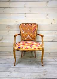 indian antique french cushions. Antique French Armchair Upholstered In Indian Phulkari By  Chezboheme On Etsy. Charming Antique Indian French Cushions N